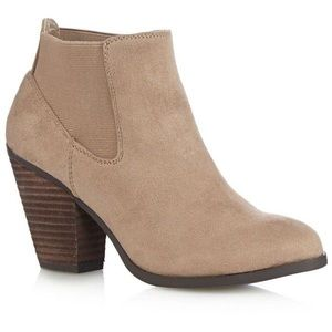 Call It Spring tan ankle booties
